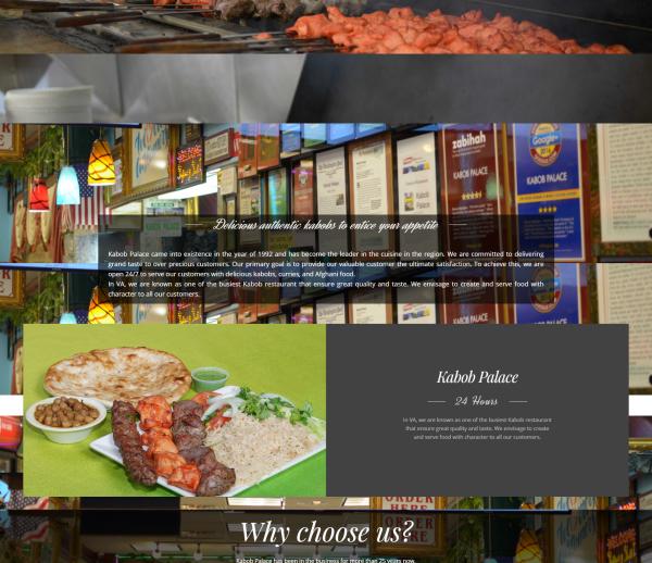 موقع لمطعم kabob palace